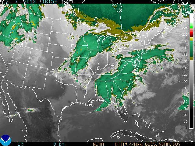 Satellite imagery of huge storm about to hit Eastern U.S. - © NOAA