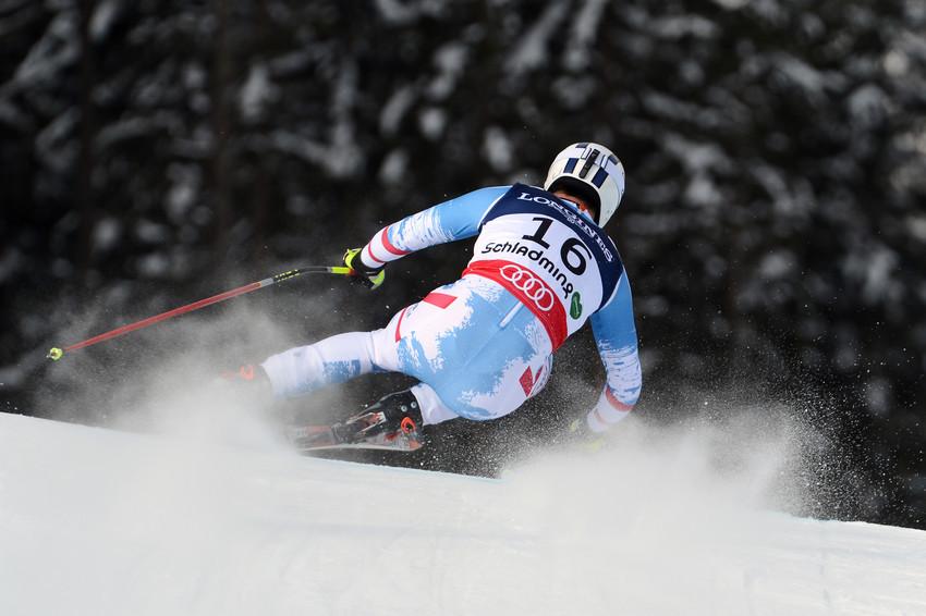 Romed Baumann führte nach der Kombi-Abfahrt und sollte im Slalom Bronze verteidigen können - © Alain Grosclaude/AGENCE ZOOM