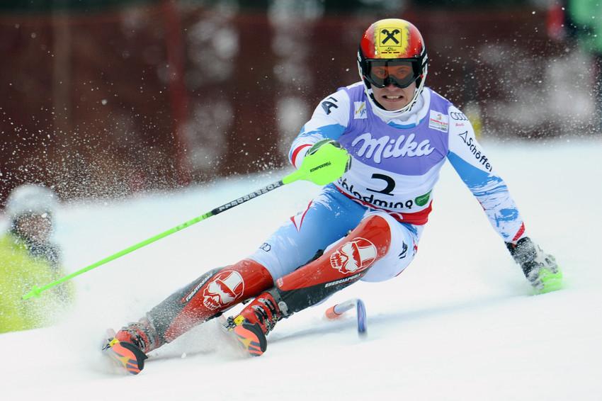 Marcel Hirscher auf dem Weg zum Slalomtitel 2013 - © Alain Grosclaude/Agence Zoom