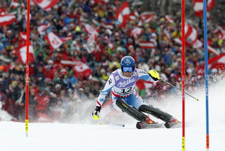 Benjamin Raich konnte im Slalom keine Medaille gewinnen. - © Alexis Bloichard/Agence Zoom
