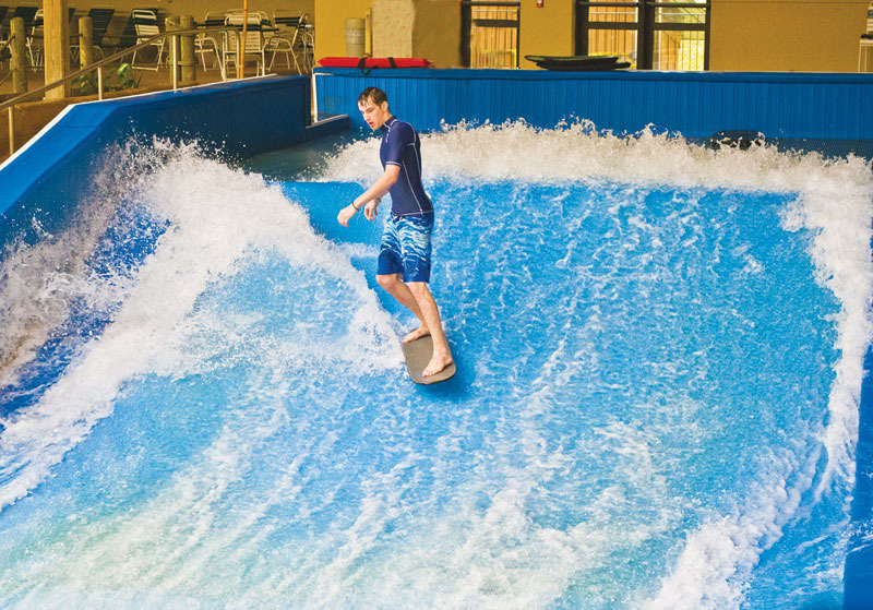 The Komodo Dragon, Pennsylvania's first indoor flow rider. Photo Courtesy of Split Rock Resort.