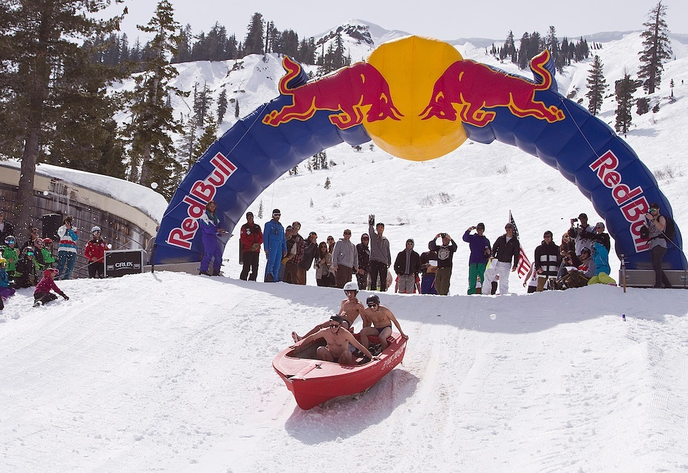 The Red Bull Schlittentag at Mt. Hood Skibowl.Photo courtesy of Mt. Hood Skibowl.