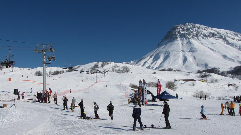 Sur les pistes de ski des Albiez - © Marie Fumaz / OT des Albiez