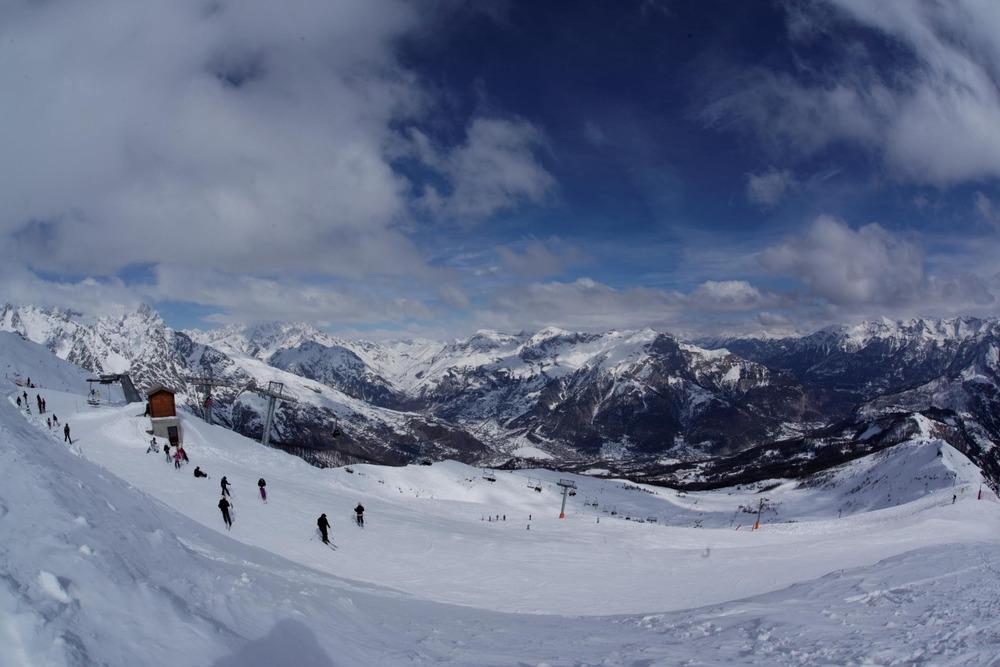 Sur le domaine skiable de Puy St Vincent