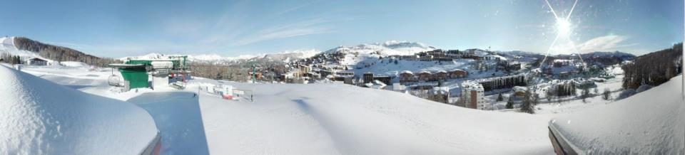 Snow in Valberg, France in March 2013