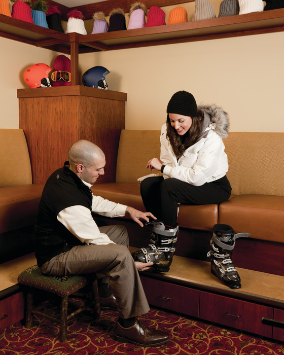 Gorsuch Ski Boot fitting area at the Four Seasons Vail. - ©Don Riddle