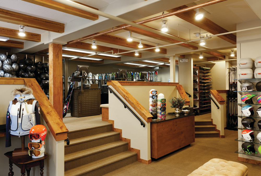 Gorsuch Ski Concierge, lower level, rental and retail area at the Four Seasons Vail. - ©Don Riddle