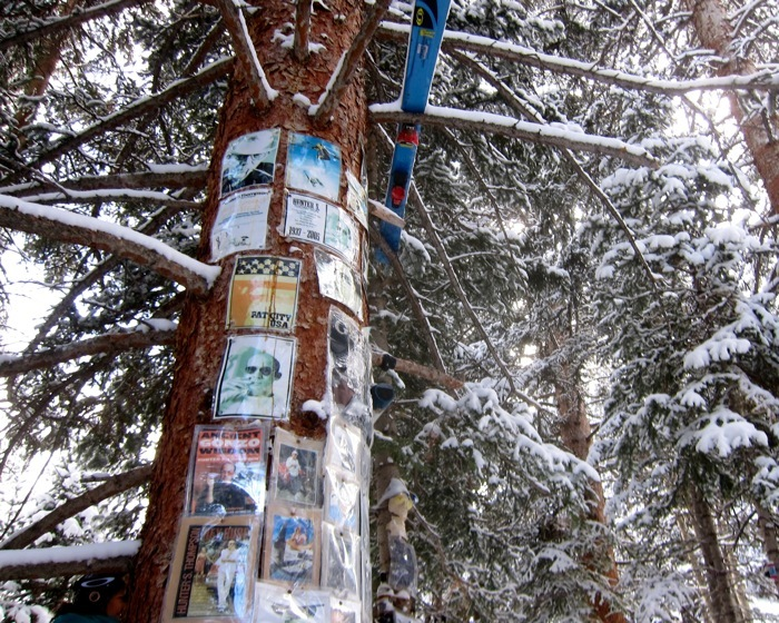 The Hunter S. Thompson Shrine at Snowmass Mountain. - © Amanda Rae