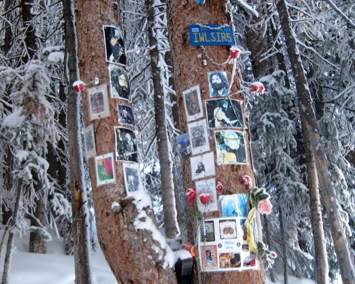 The Jerry Garcia Shrine located on Aspen Mountain. - © Amanda Rae