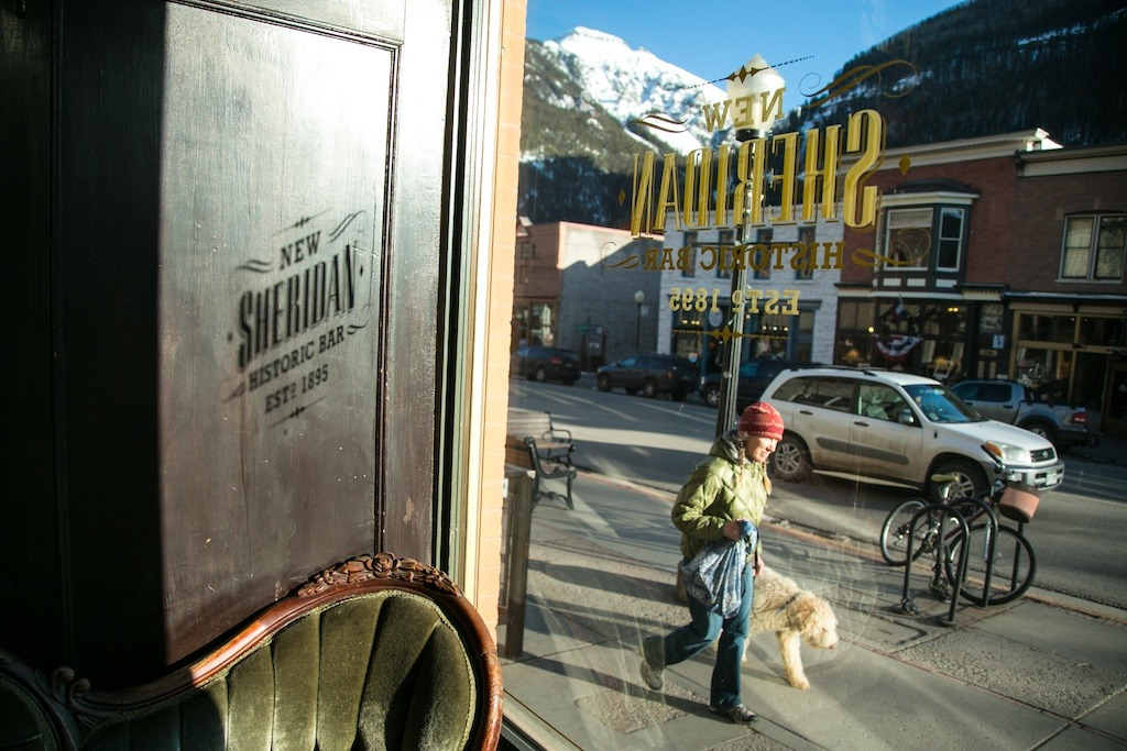 View from inside the New Sheridan in Telluride. - © Liam Doran