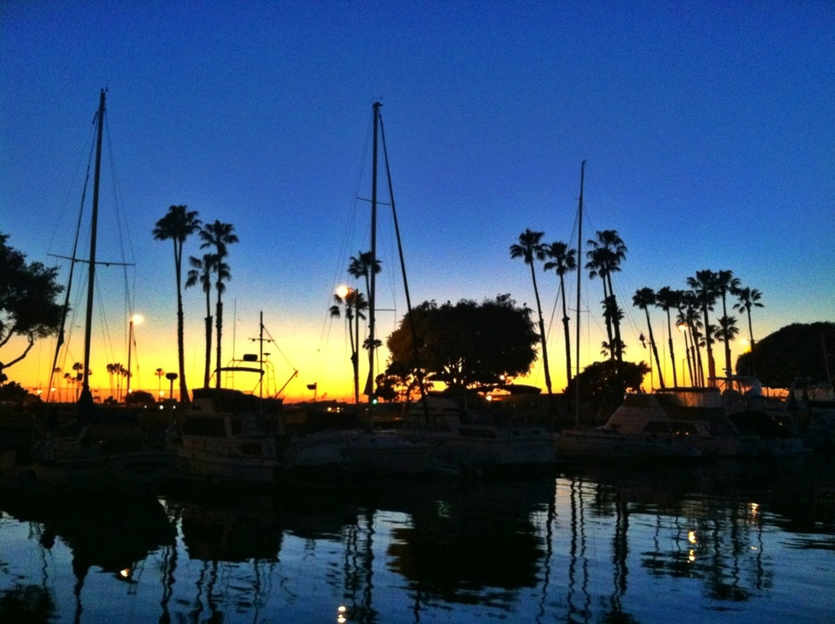 Sunset at Huntington Beach. - © Meg Olenick