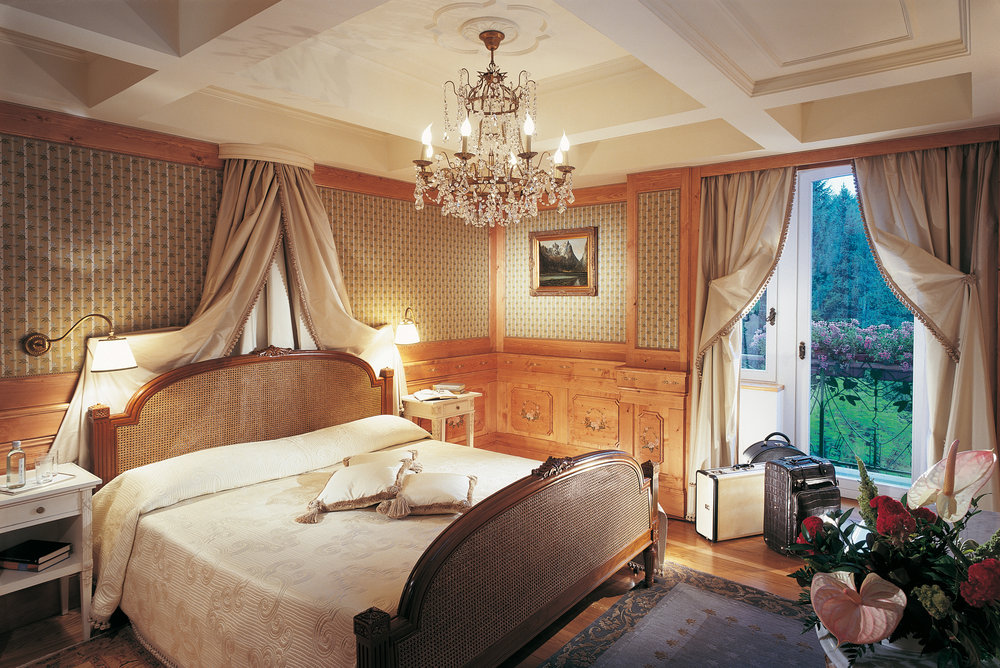The Frank Sinatra suite at the luxurious Cristallo Palace Hotel and Spa in Cortina has a great backstory of the crooner's antics. - © Cristallo Palace Hotel and Spa