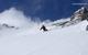A skier heads down a run at Sugar Bowl Ski Resort, California
