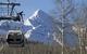 Gondel in Telluride mit Wilson Peak m Hintergrund. Alan Cuenca