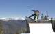 A snowboarder performs a trick in the terrain park in Keystone, Colorado
