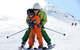 Ski de piste en famille, l'un des nombreux bonheur qu'offre la Haute Maurienne Vanoise - © Pascal Lebeau