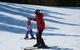 A child learns to ski at Nakiska ski area in Alberta. Photo courtesy of Resorts of the Canadian Rockies.