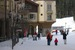 A family walks through the village at Sun Peaks. Photo by Becky Lomax. - © Becky Lomax