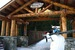 Cross a covered bridge to reach the Alpine Inn at Crystal Mountain, Washington. Photo by Becky Lomax. - © Becky Lomax