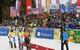 Die Slalom-Siegerinnen lassen sich in Ofterschwang feiern: Holdener, Maze und Shiffrin  - © Christophe PALLOT/AGENCE ZOOM