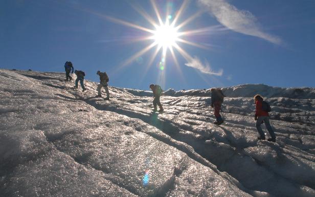 Randonnée glaciaire sur le glacier de Chavière au dessus de Val Thotens