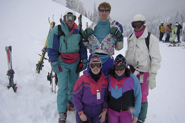 80s group on the slopes  - © Brandon Barr