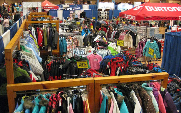 Colorful show floor at the Albany Ski & Snowboard Expo