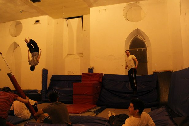 Edinburgh indoor freestyle session  - © Edinburgh Uni