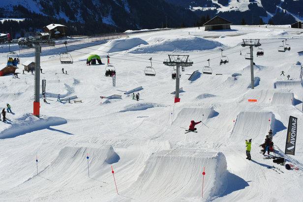De nombreux snowpark sont implantés sur le domaine skiable d'Avoriaz