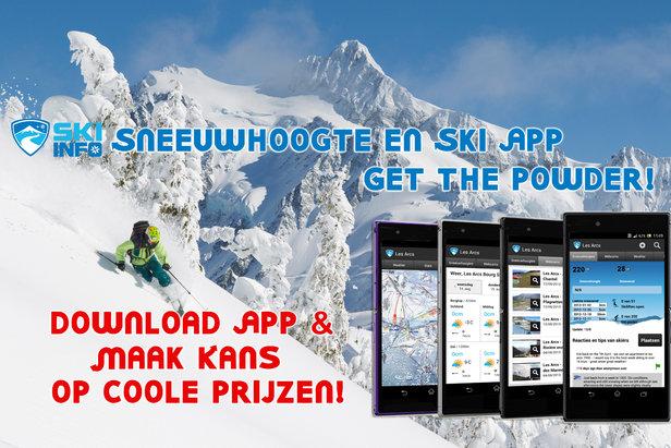 Download de gratis Ski App en maak kans op coole prijzen- ©Skiinfo