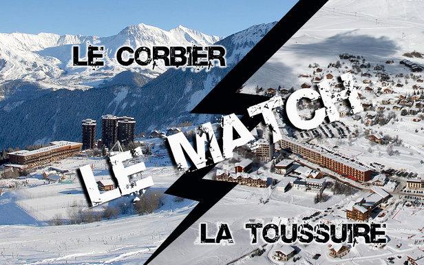 Match comparatif entre deux stations famille : Le Corbier et La Toussuire...
