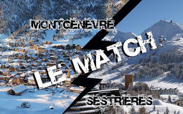 Match comparatif entre Montgenèvre et Sestrières