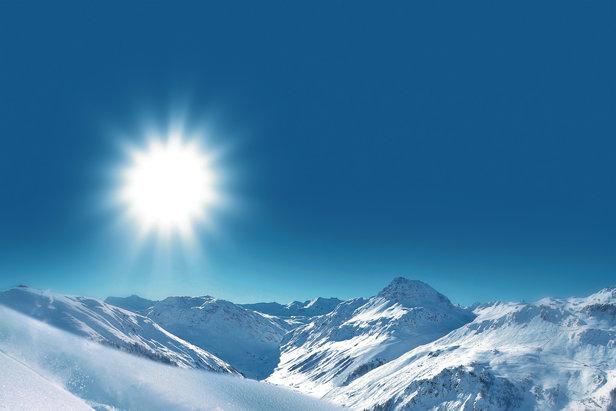 Sur les pentes enneigées de Val d'Isère...