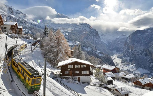 Wengen, Switzerland has one of the oldest railways in Europe.  - © Wenger-Lauberhorn