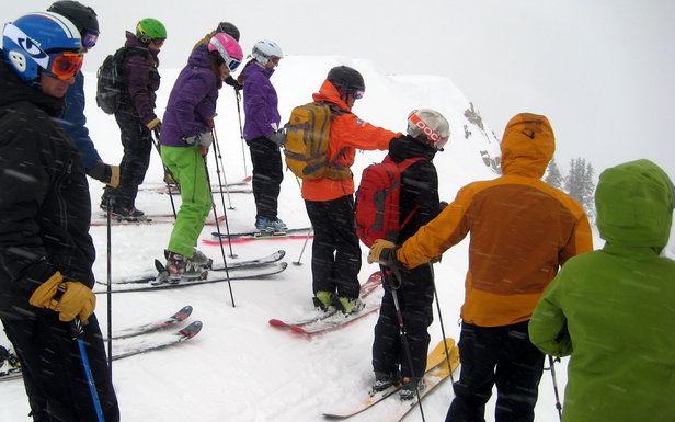 Cat skiing with friends is like having your own forest and your own limo driver.  - © Linda Guerrette