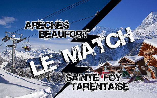 Match comparatif entre les stations de ski d'Arêches Beaufort et de Saint Foy Tarentaise