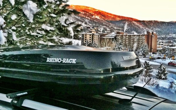 The Rhino-Rack RMFZ85 is a must for skiers and riders looking for a large-capacity, stylish cargo box.