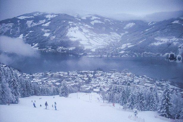 Sneeuwwolken in Zell am See op 9 februari 2014
