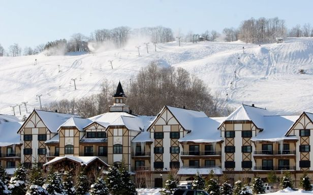 A view of the Mountain Grand Lodge and Spa in Boyne Mountain, Michigan