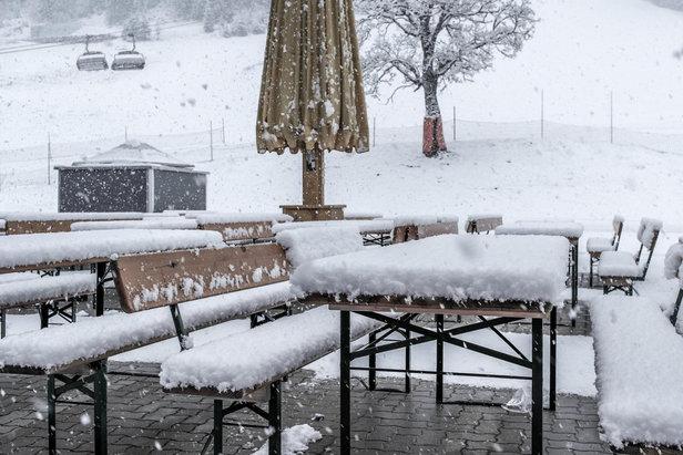 Merklichen Neuschnee gab es am 9. April 2014 in Zauchensee - da macht das Osterskifahren doppelt Spaß