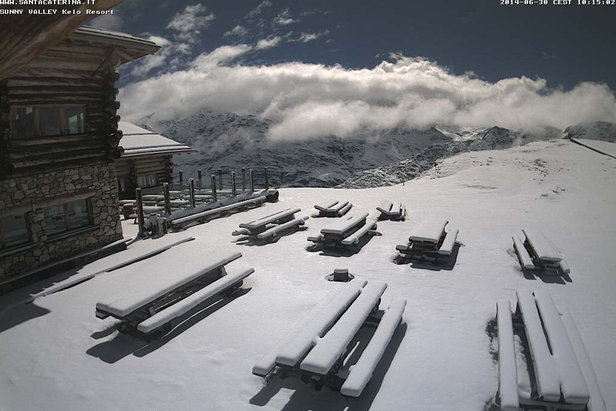 Neve d'estate sulle Alpi - Santa Caterina Valfurva 30 Giugno 2014