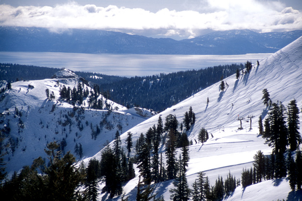 Scenic view of Squaw Valley's Headwall. Photo by Nathan Kendall.