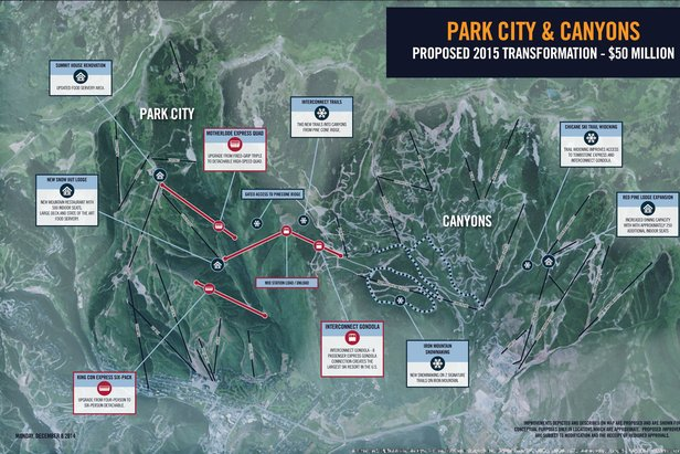 Vail Resorts has proposed $50 million in upgrades to Park City and Canyons for the 2015-16 season.