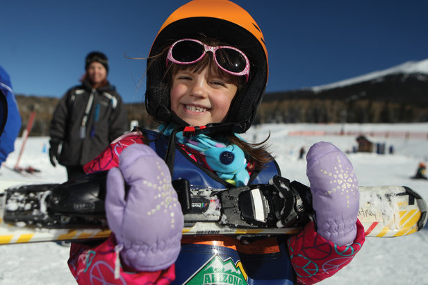 Big smiles for the fun of learning to ski.  - © Arizona Snowbowl