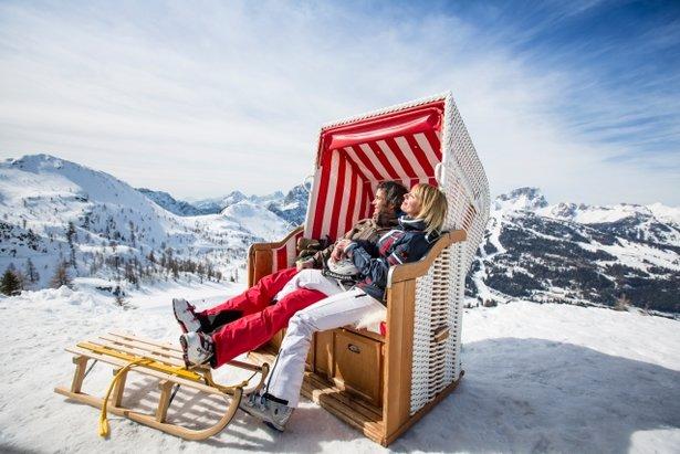 S lyžovačkou v Nassfelde je spojený aj relax a slnenie v srdci krásnej alpskej prírody