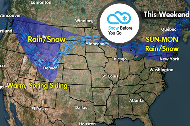 Snow Before You Go: Large Storms Sprawling & Warm