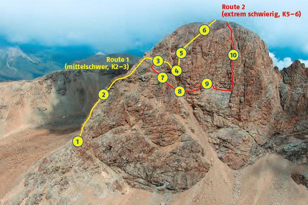 Klettersteig Piz Trovat : Neue klettersteige in den alpen klettersteig piz trovat route