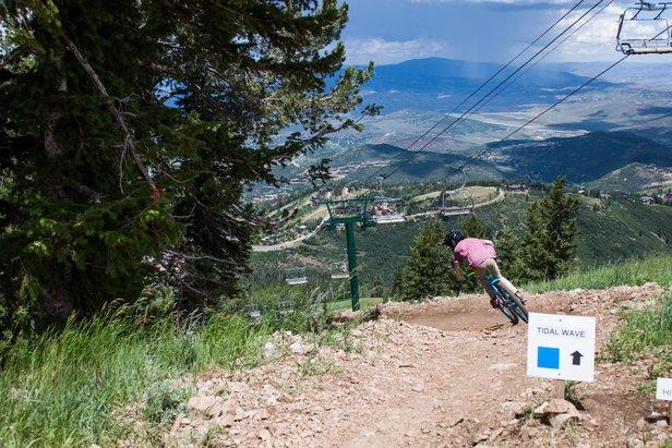 Tidal Wave is a new flow trail for intermediate mountain bikers at Deer Valley Resort. - ©Deer Valley Resort
