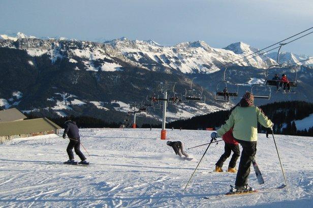 Ski sur le domaine du Semnoz