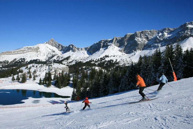 Sur les pistes de ski de Villard de Lans